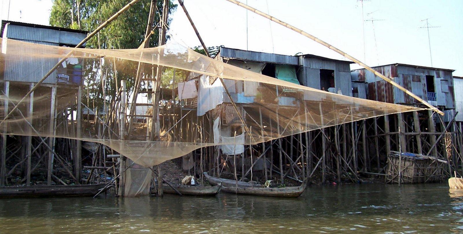 Pfahlbauten in Chau Doc - Vietnam