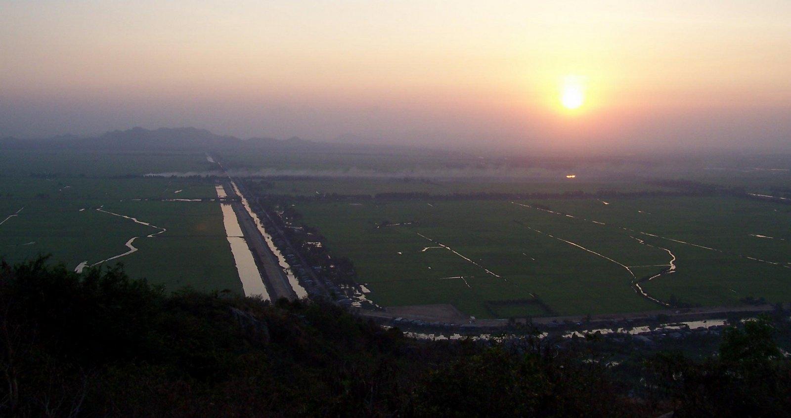Mekong Delta bei Sonnenuntergang - Vietnam