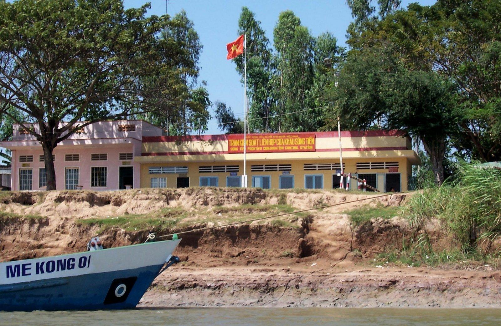 Grenze von Vietnam am Mekong