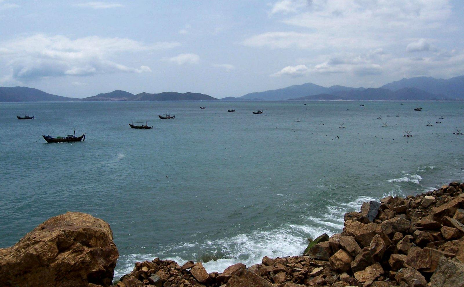Die Bucht von Nha Trang in Vietnam