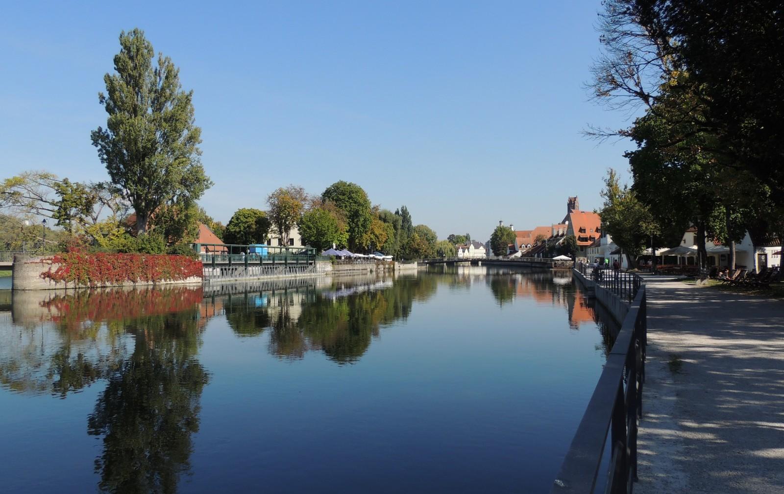 Isarpromenade in Landshut