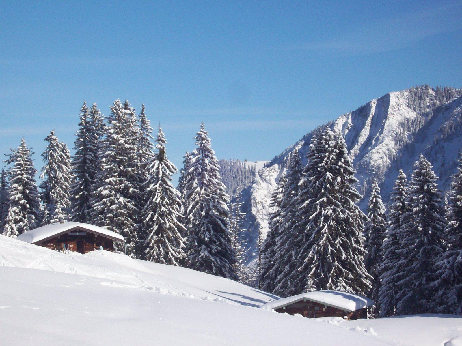 Spitzingsee - Hütten an der Grünsee-Abfahrt