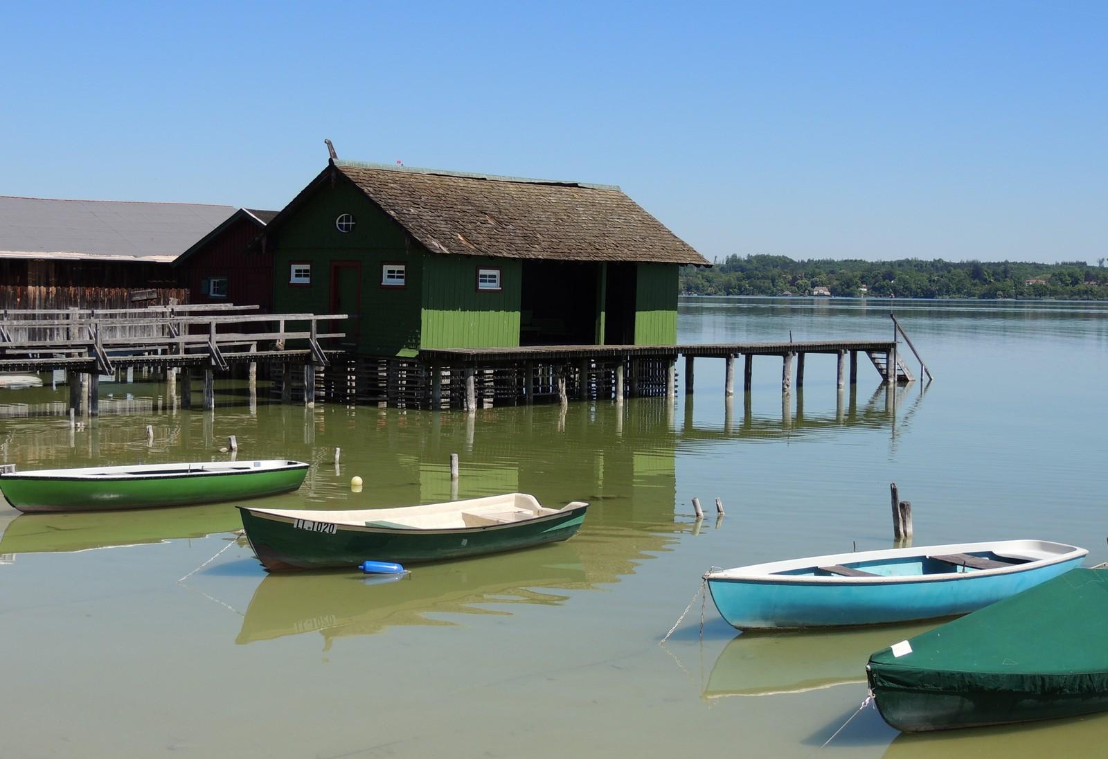 Bootshäuser in Schondorf am Ammersee