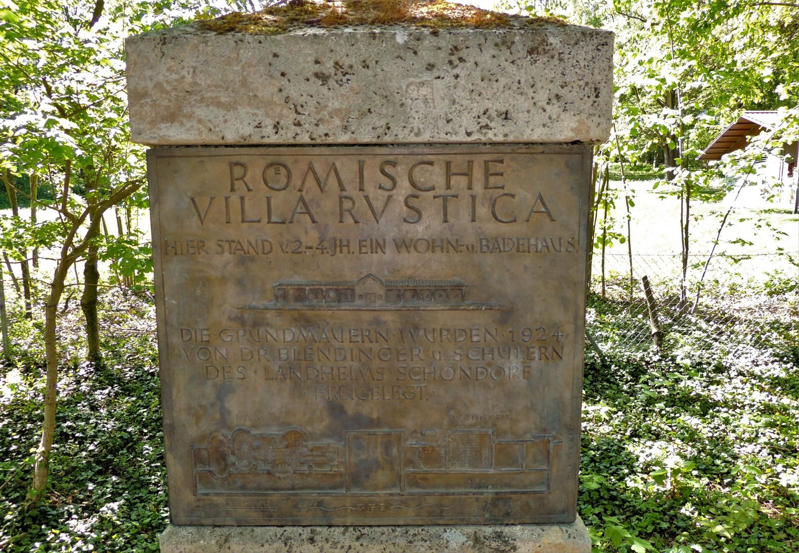 Fundort der Villa Rustica in Schondorf am Ammersee