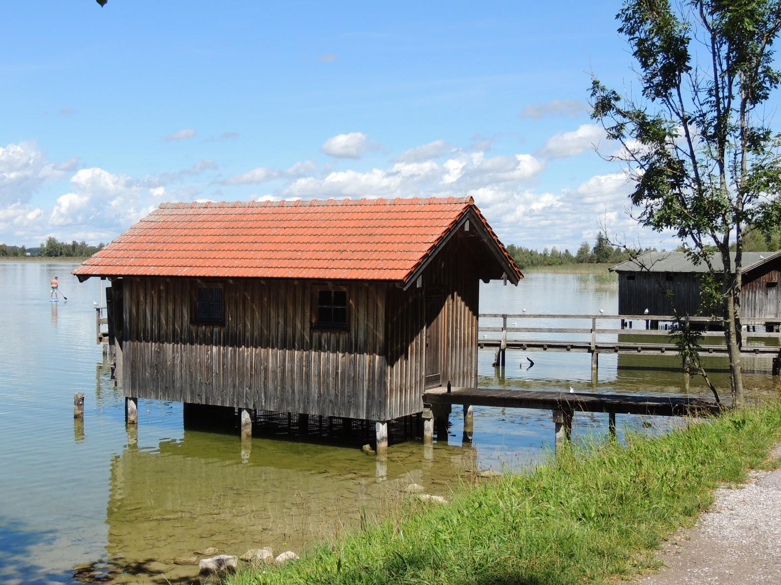 Das Blaue Land - Bootshäuser am Kochelsee