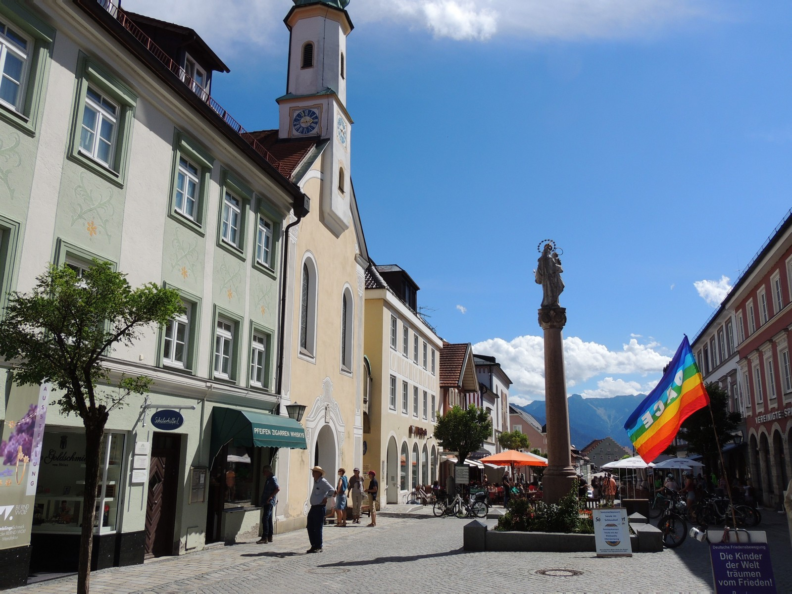 Das Blaue Land - Obermarkt von Murnau