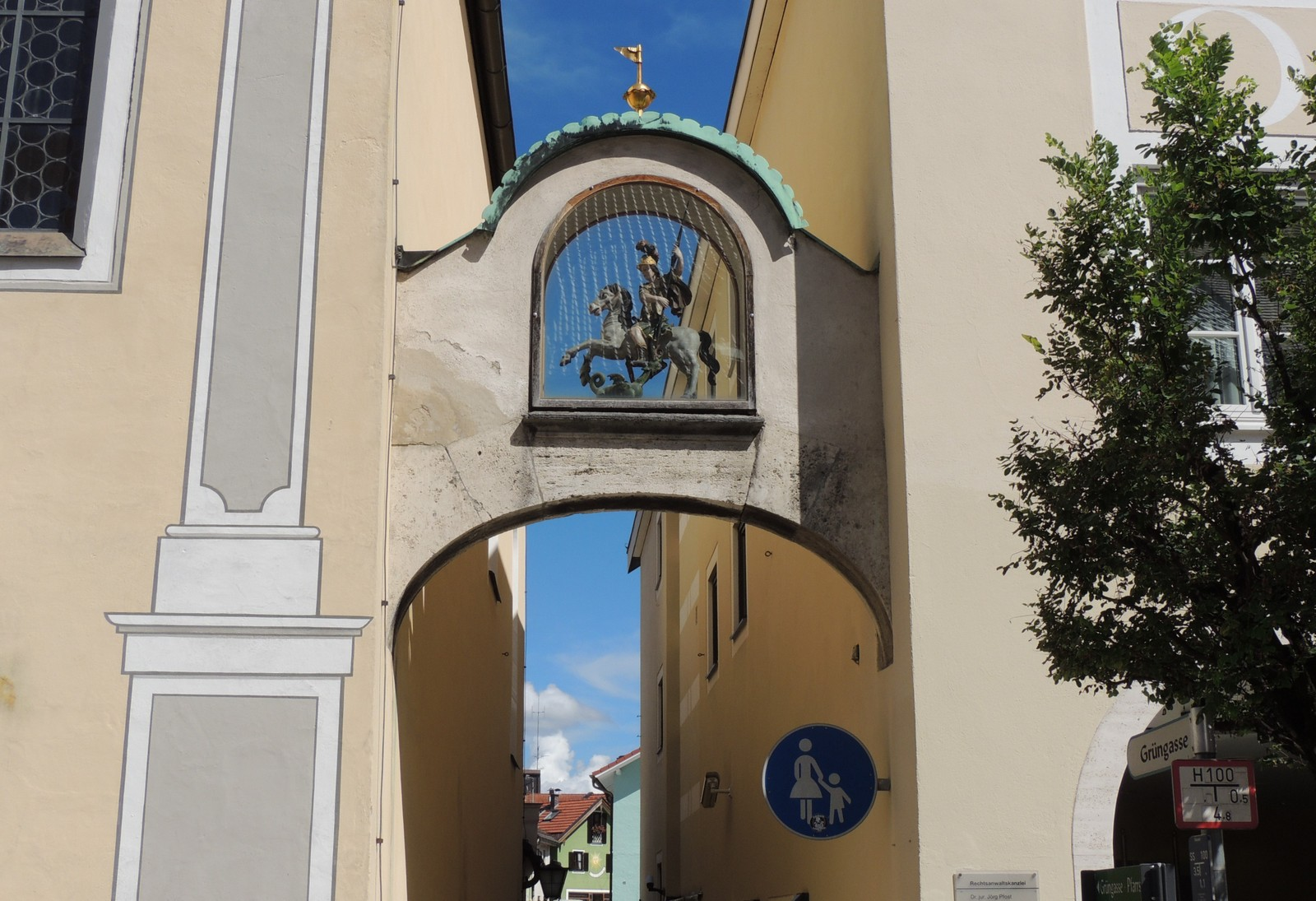 Das Blaue Land - Grüngasse in Murnau
