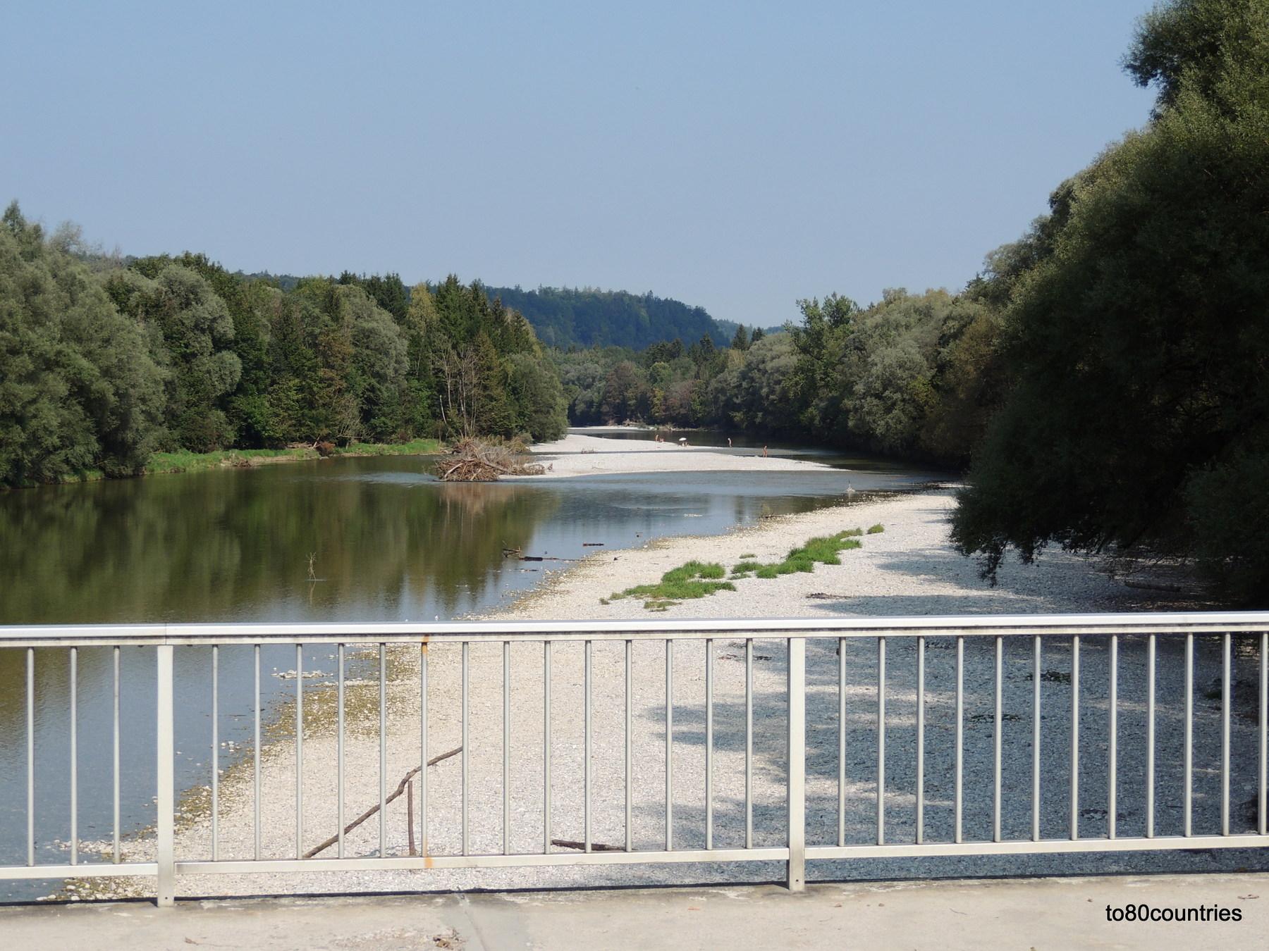 Dürnsteiner Brücke über die Isar - Grünwald Rundkurs