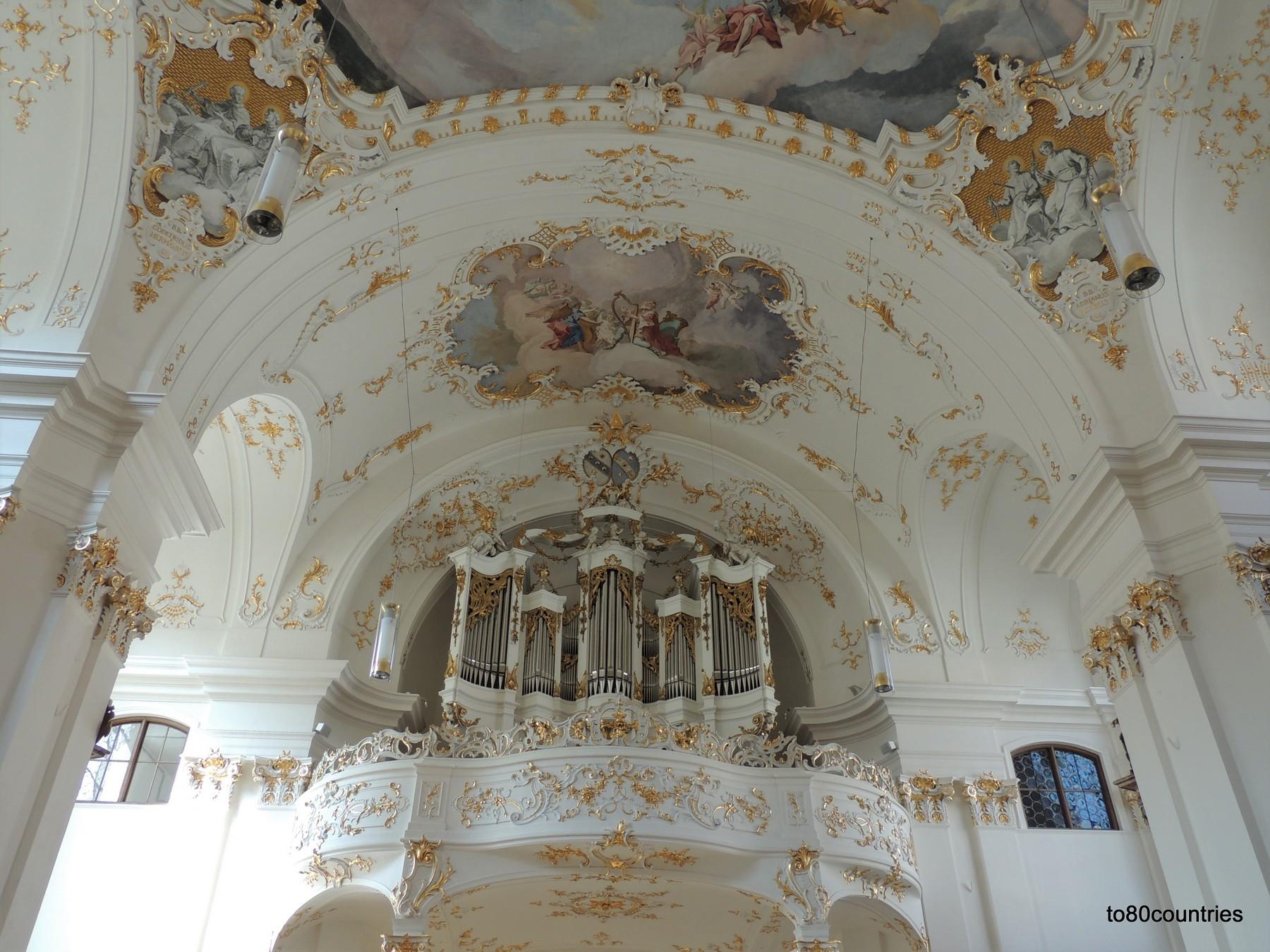 Klosterkirche Schäftlarn - Deckengemälde über der Orgel