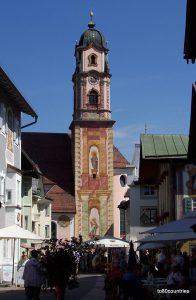 Kirchturm St. Peter und Paul in Mittenwald