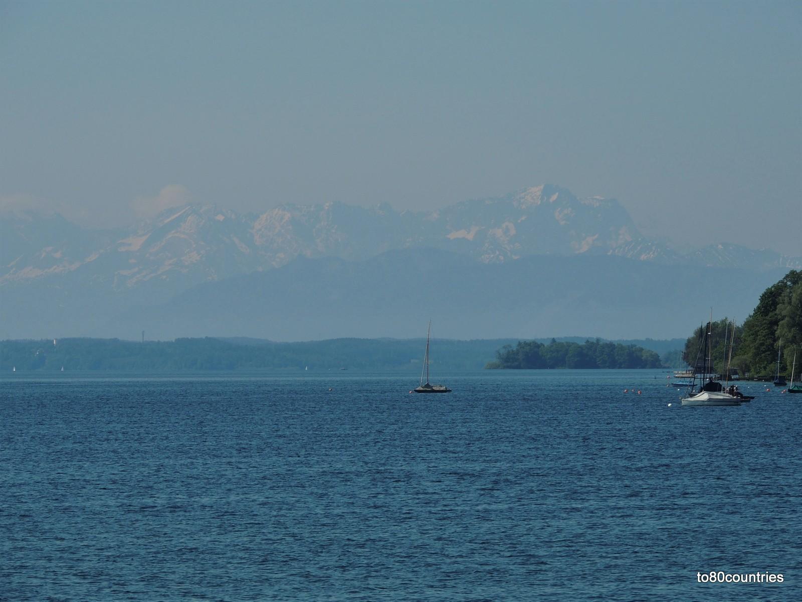 Starnberger See - Kurs auf die Roseninsel