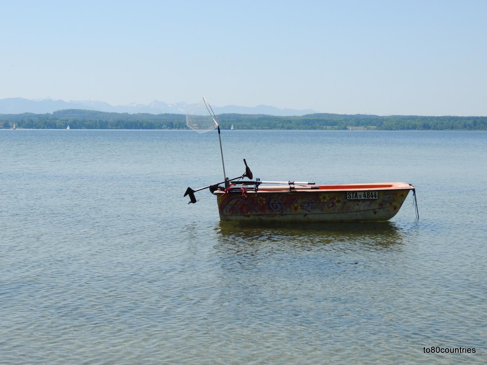 Starnberger See - Fischerboot bei Ambach