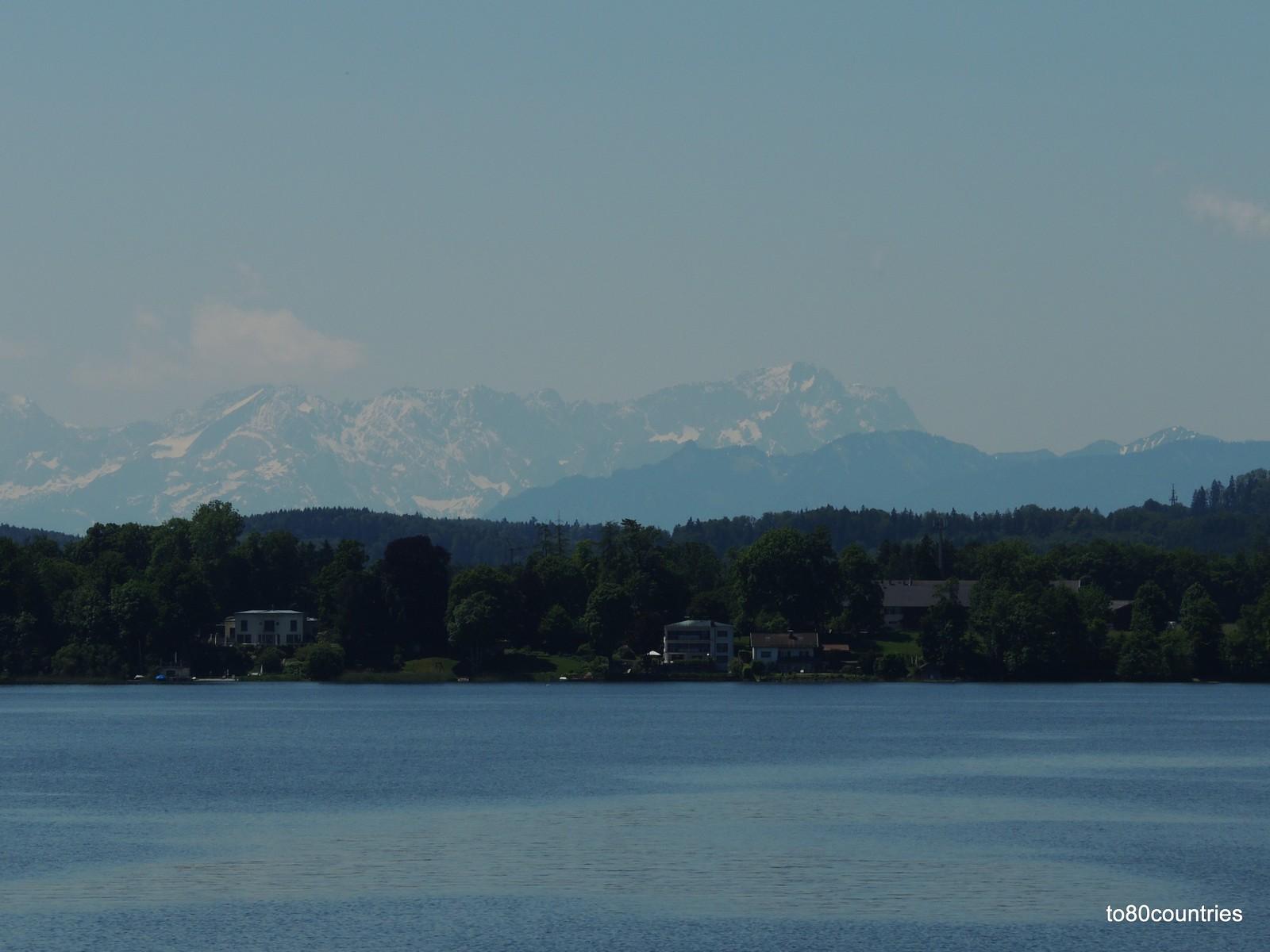 Starnberger See - Blick auf die Zugspitze