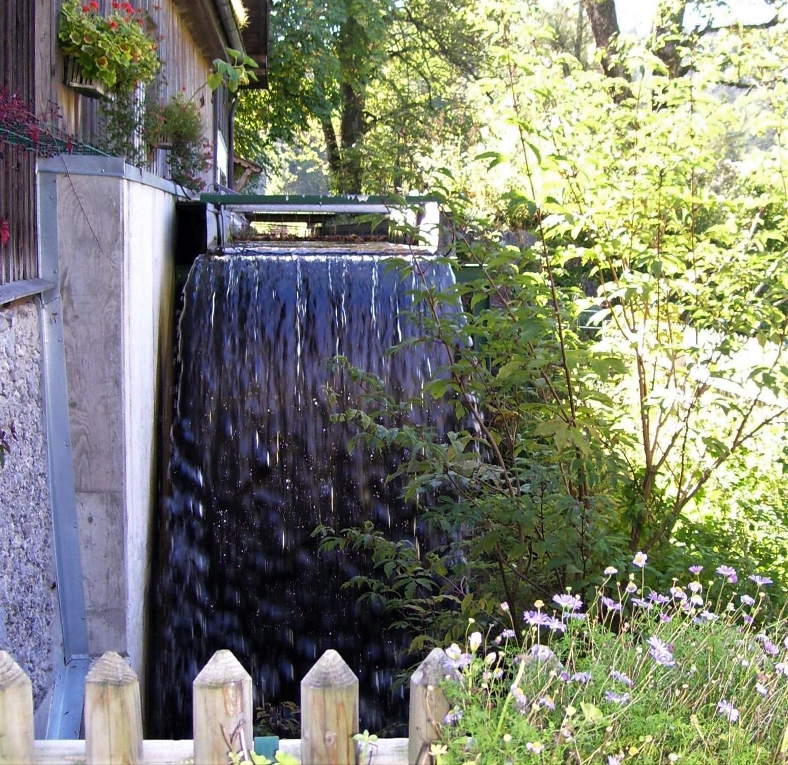 Wasserrad Sarah - Pelletsmühl im Tölzer Land