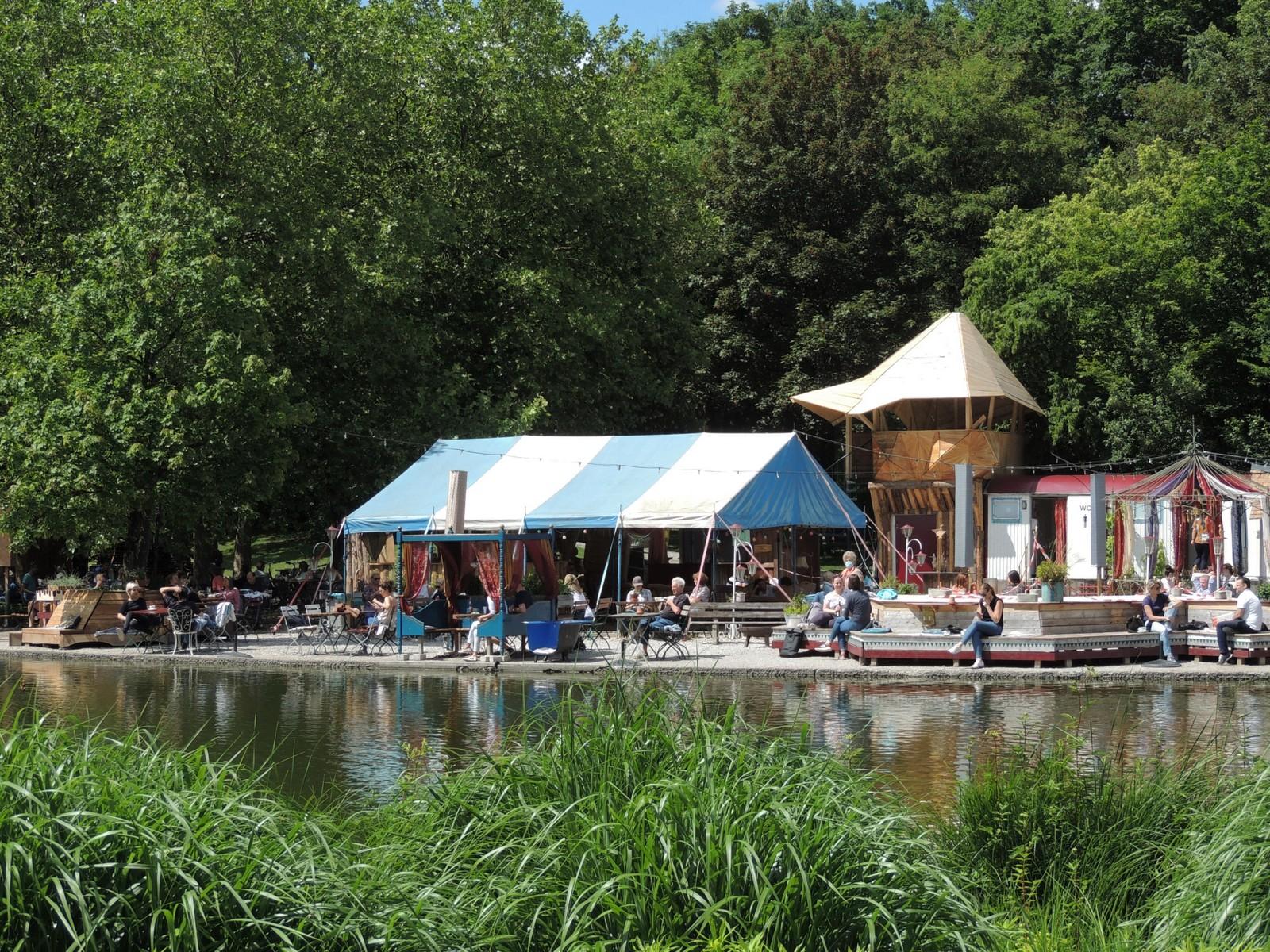 Gans am Wasser - Westpark München