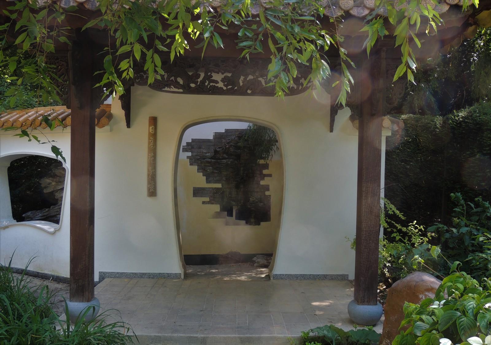 Steinmauer im Chinesischen Garten