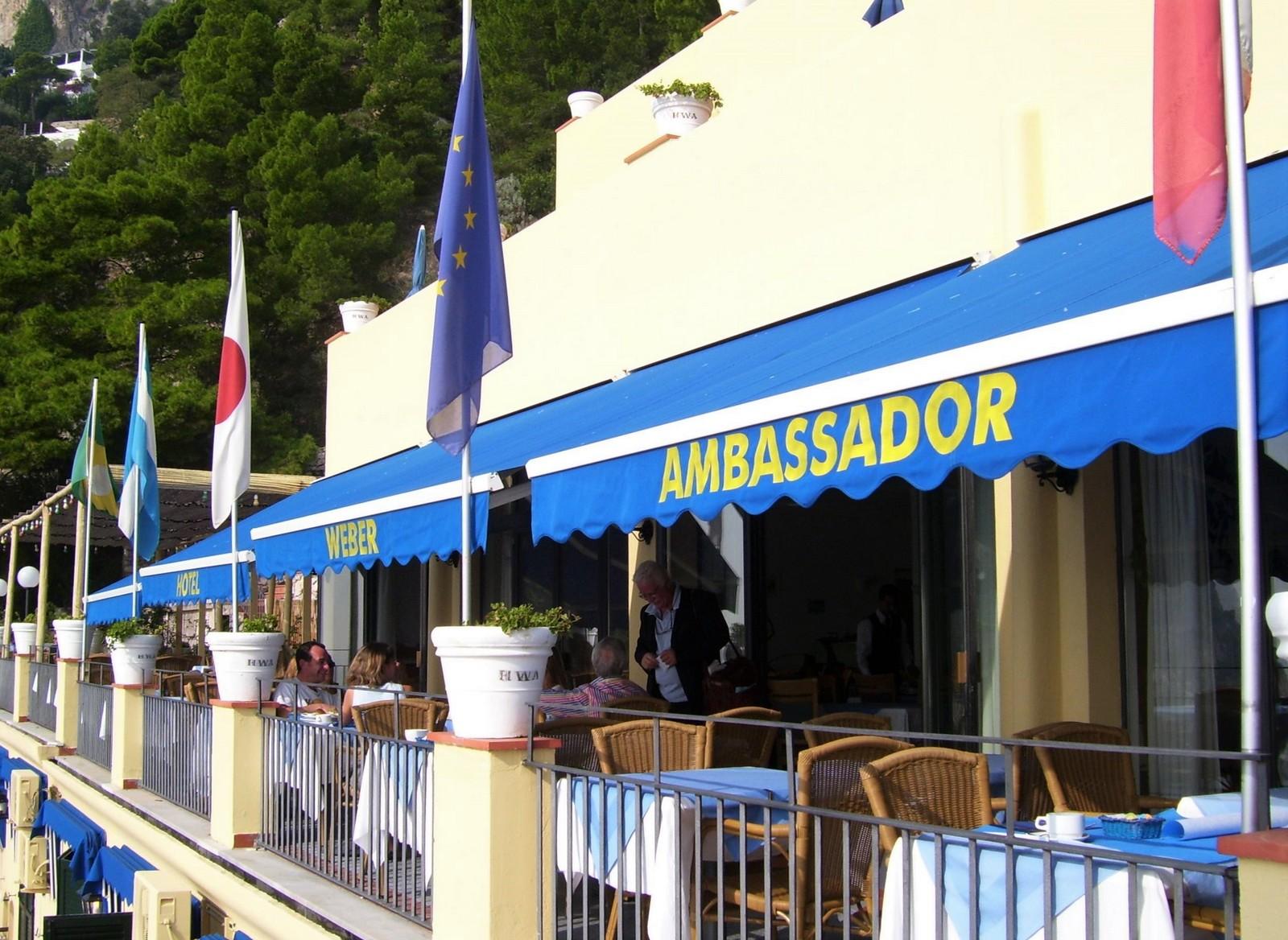 Hotel Weber Ambassador - Frühstücksterrasse