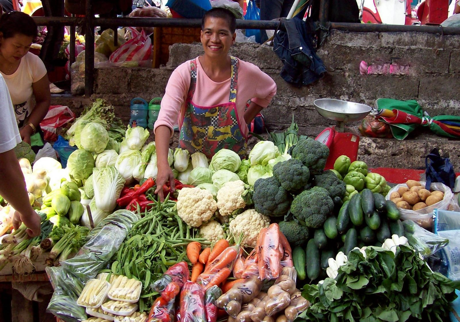 Gemüsestand auf dem Markt von Baguio - Luzon