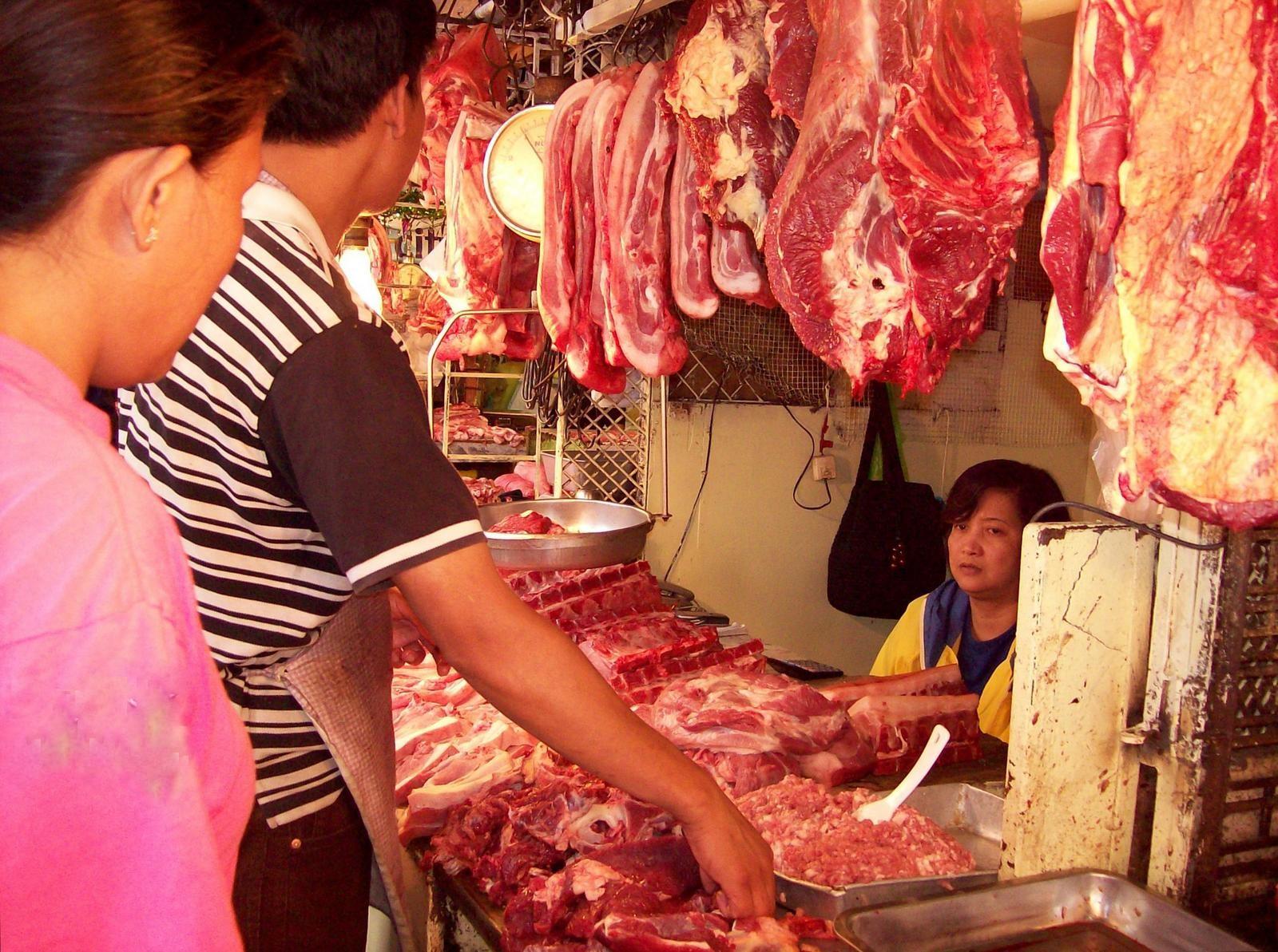 Metzger auf dem Markt von Baguio - Luzon