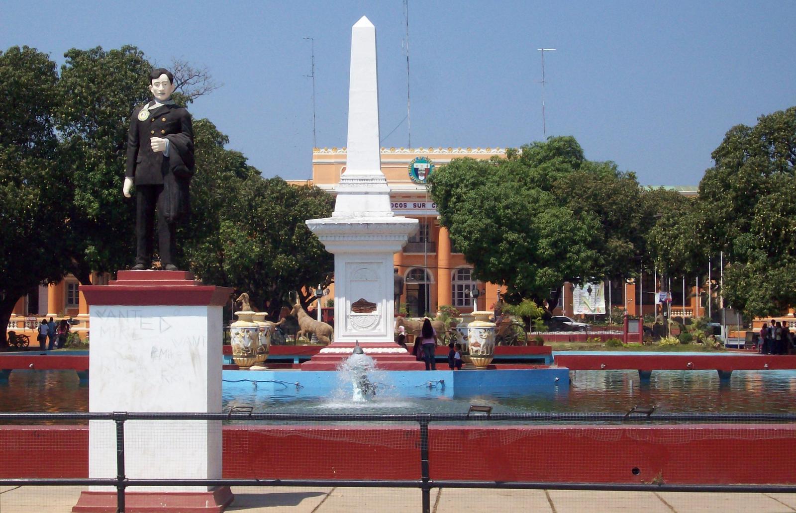 Placa Salcedo mit Kapitol in Vigan - Luzon