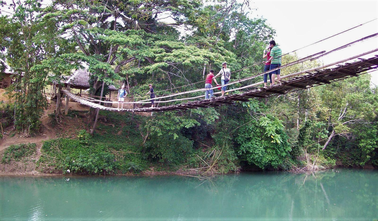 Hängebrücke über den Loboc River - Bohol