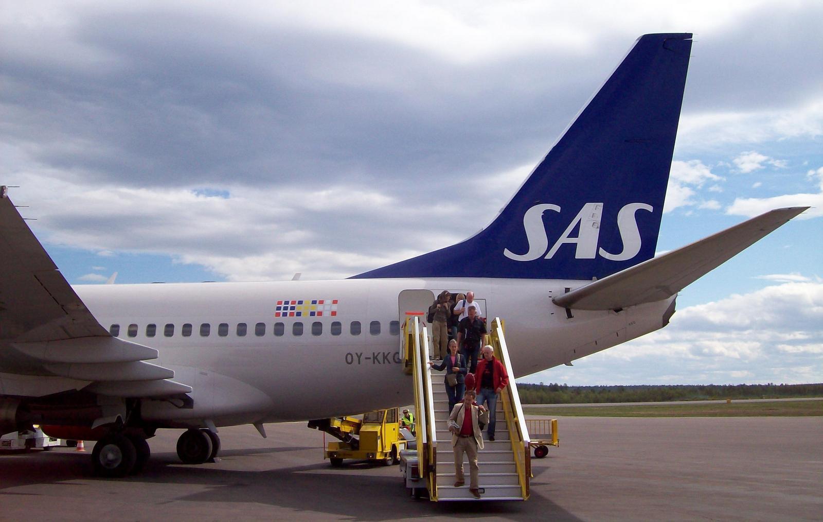 SAS-Flugzeug in Kiruna - Lappland