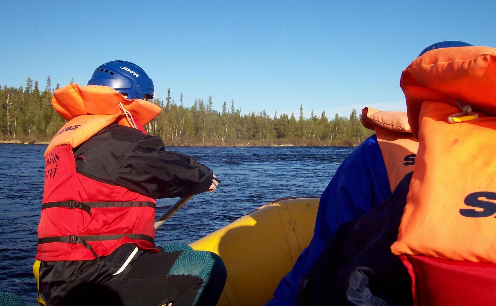 Rafting auf dem Torneälv - Lappland