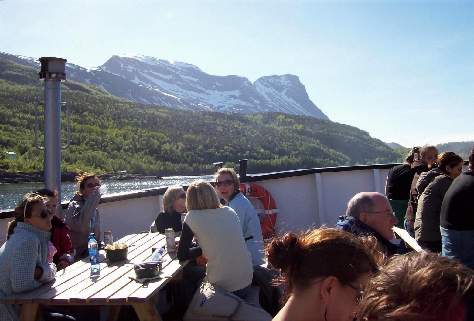 Auf dem Rombaksfjord in Norwegen