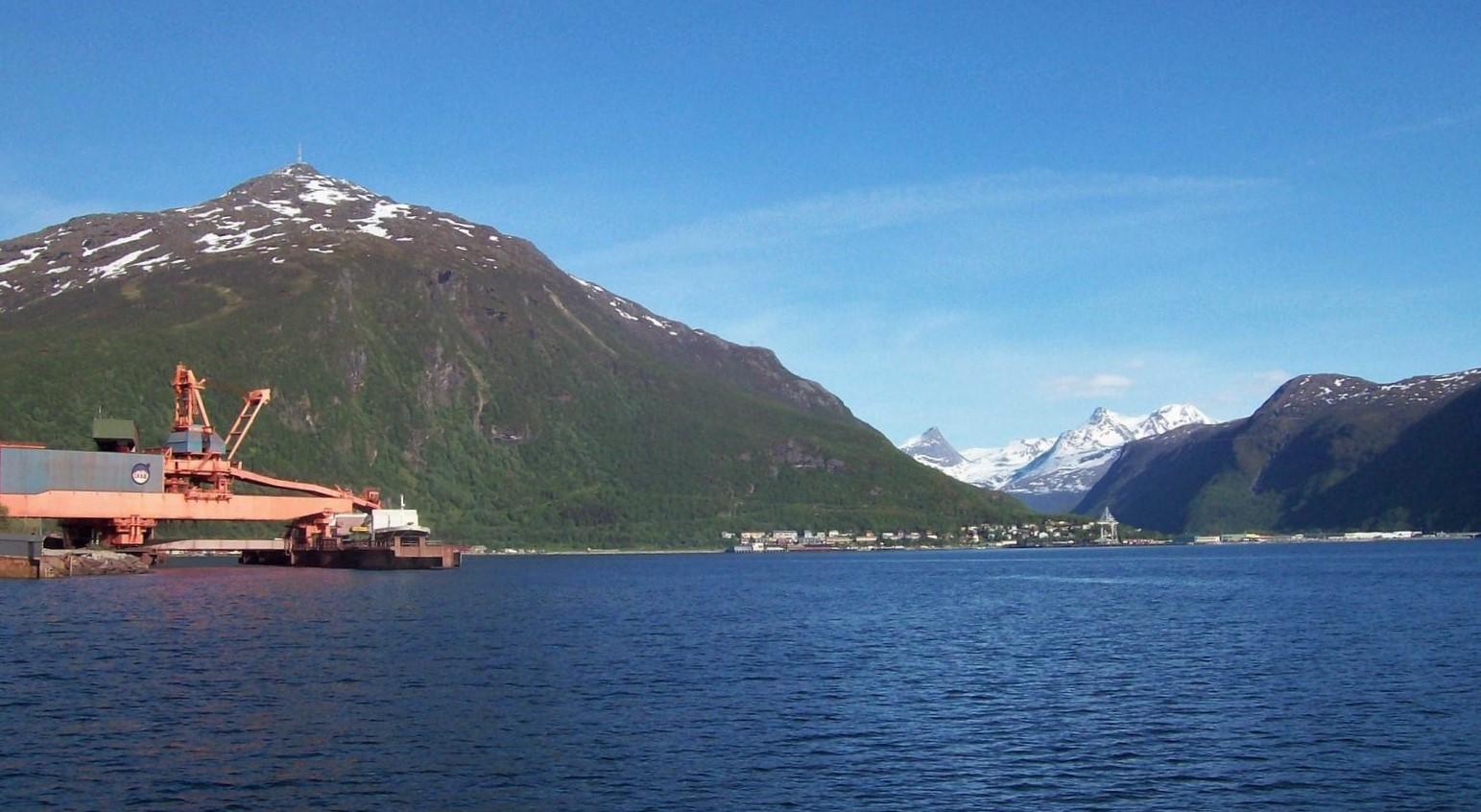Erzhafen von Narvik - Norwegen