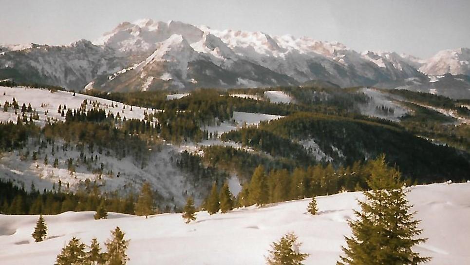Tennengebirge vom Skigebiet Gosau aus gesehen