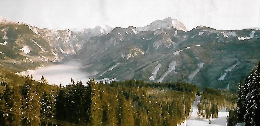 Dachstein vom Skigebiet Gosau aus gesehen