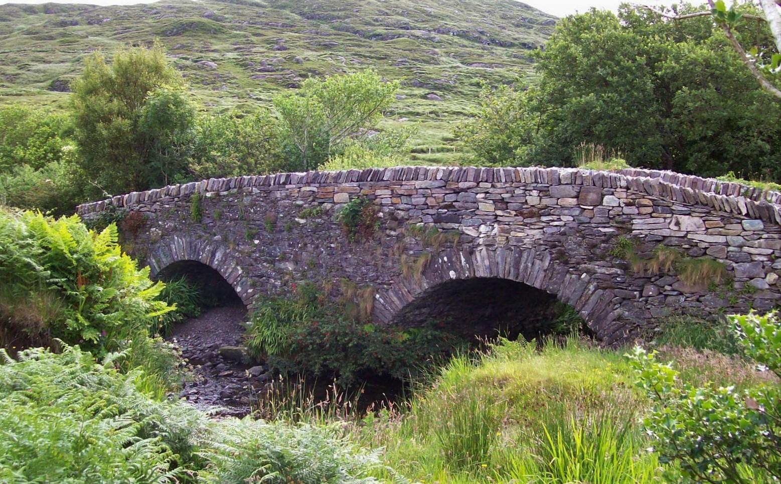 Steinbrücke am Staigue Fort - Irland