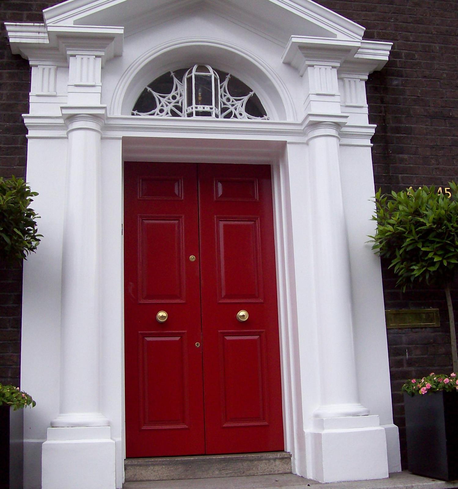 Dublins bunte Haustüren - am Merrion Square