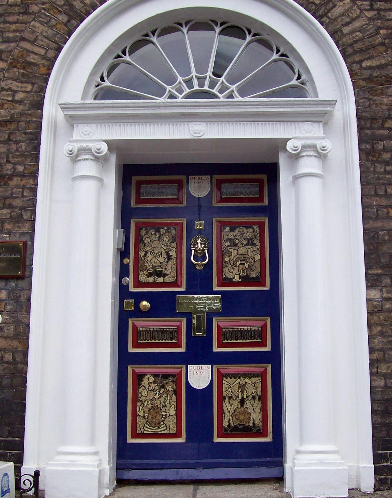 Haustür am Merrion Square