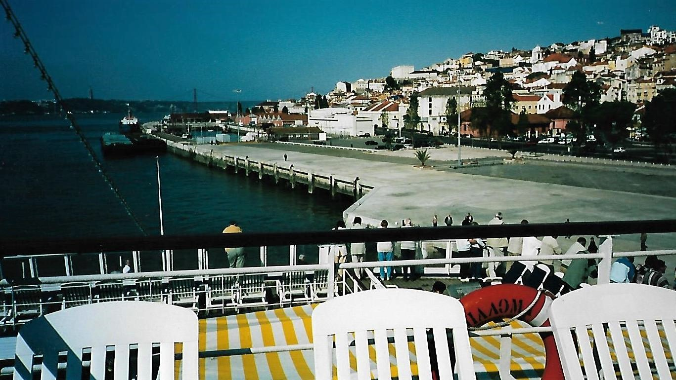 Achterndeck MS Paloma in Lissabon