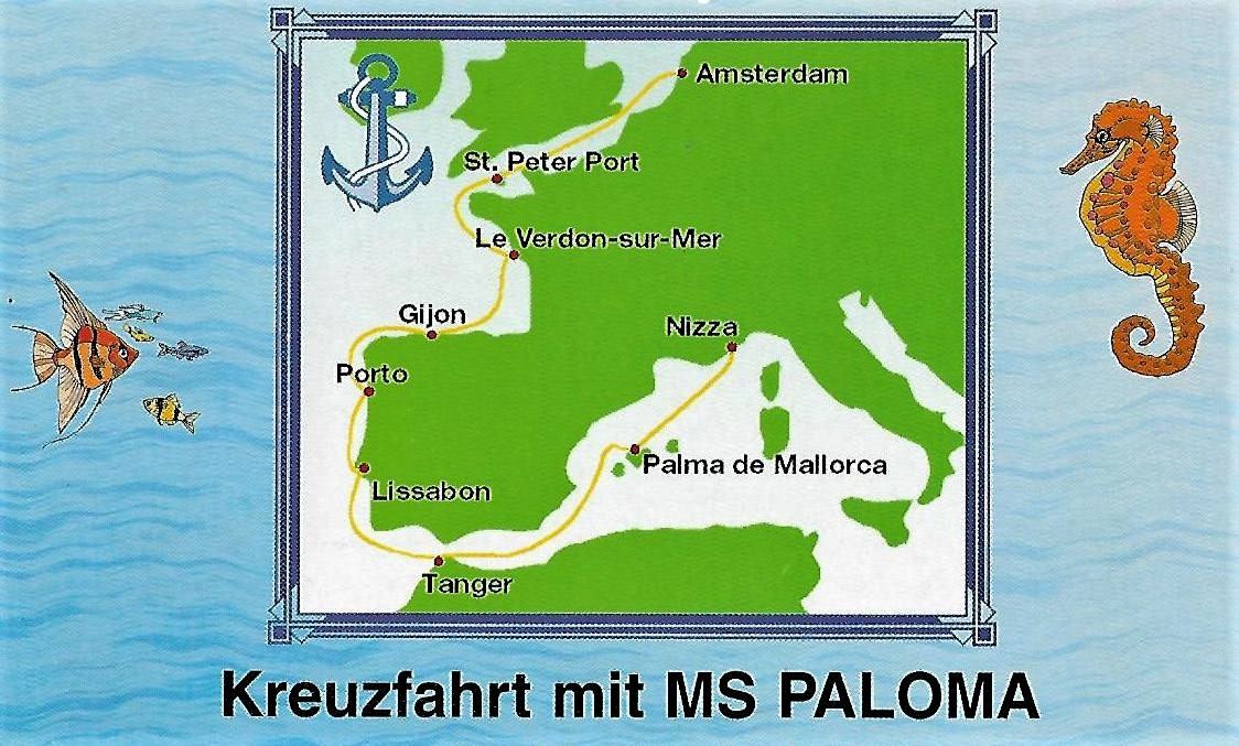 Route MS Paloma