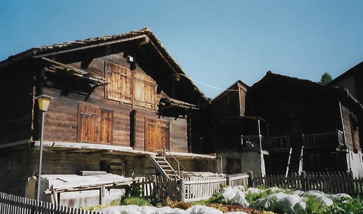 Walliser Holzhütten - Saas Fee