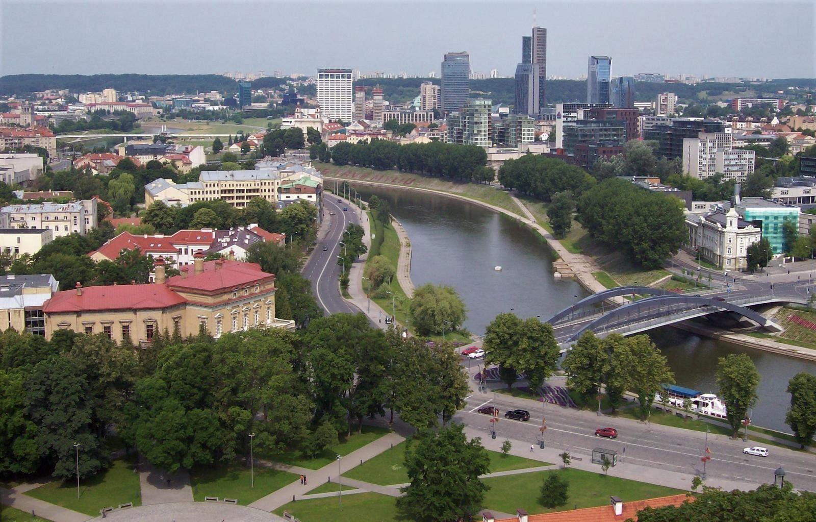 Fluss Neris in Vilnius Litauen