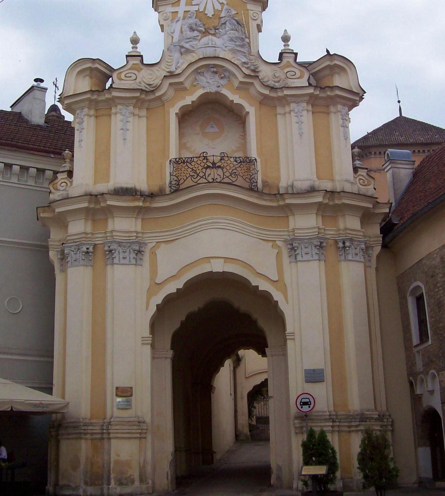 Tor zur Dreifaltigkeitskirche in Wilna