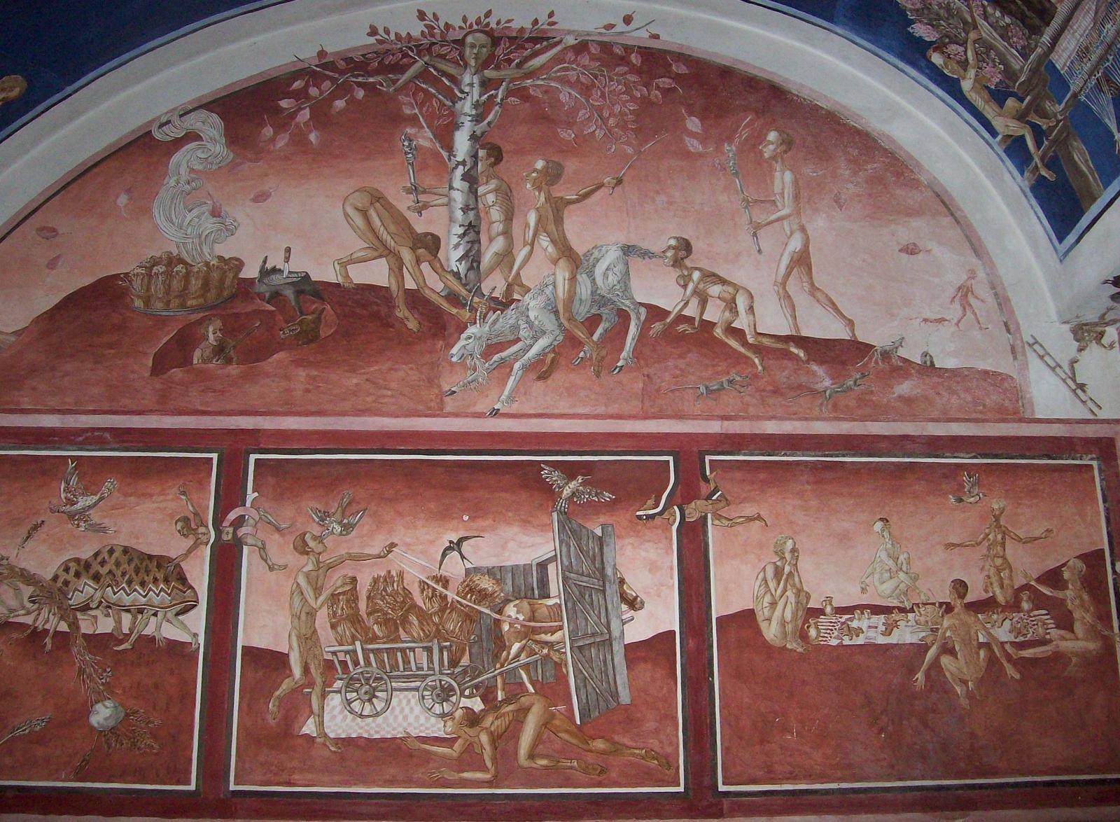 Fresken, geschaffen von Petras Repšys zum 400 jährigen Jubiläum der Universität Vilnius
