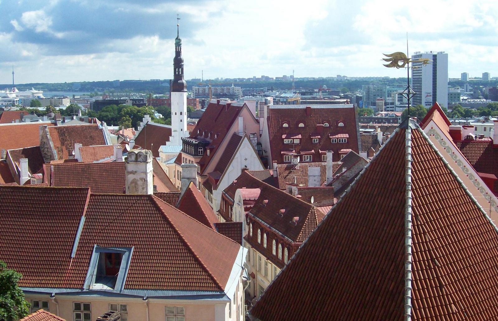 Tallinn - Aussicht vom Domberg auf die Untere Stadt