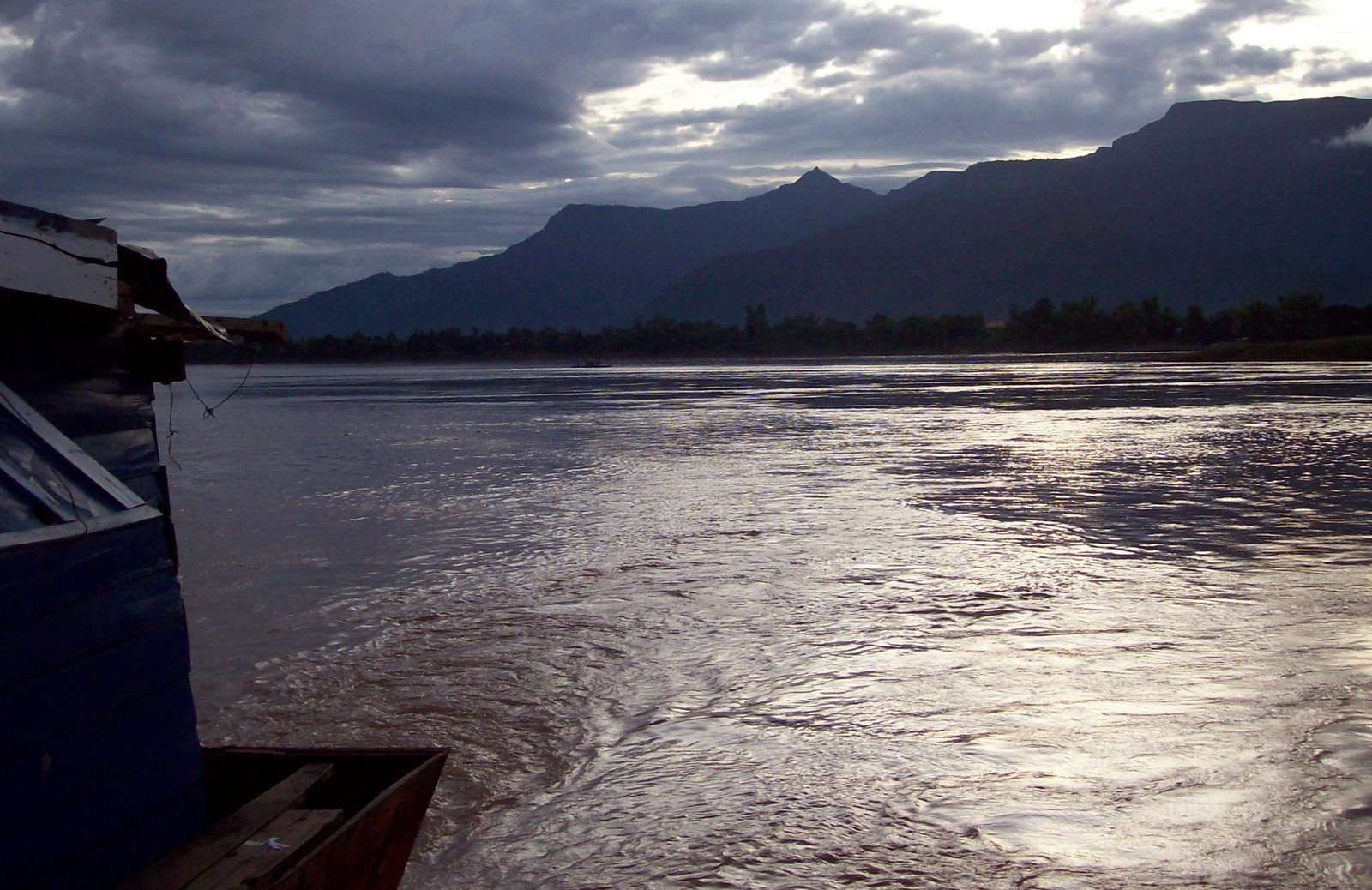 Der Mekong bei Champasak in Laos