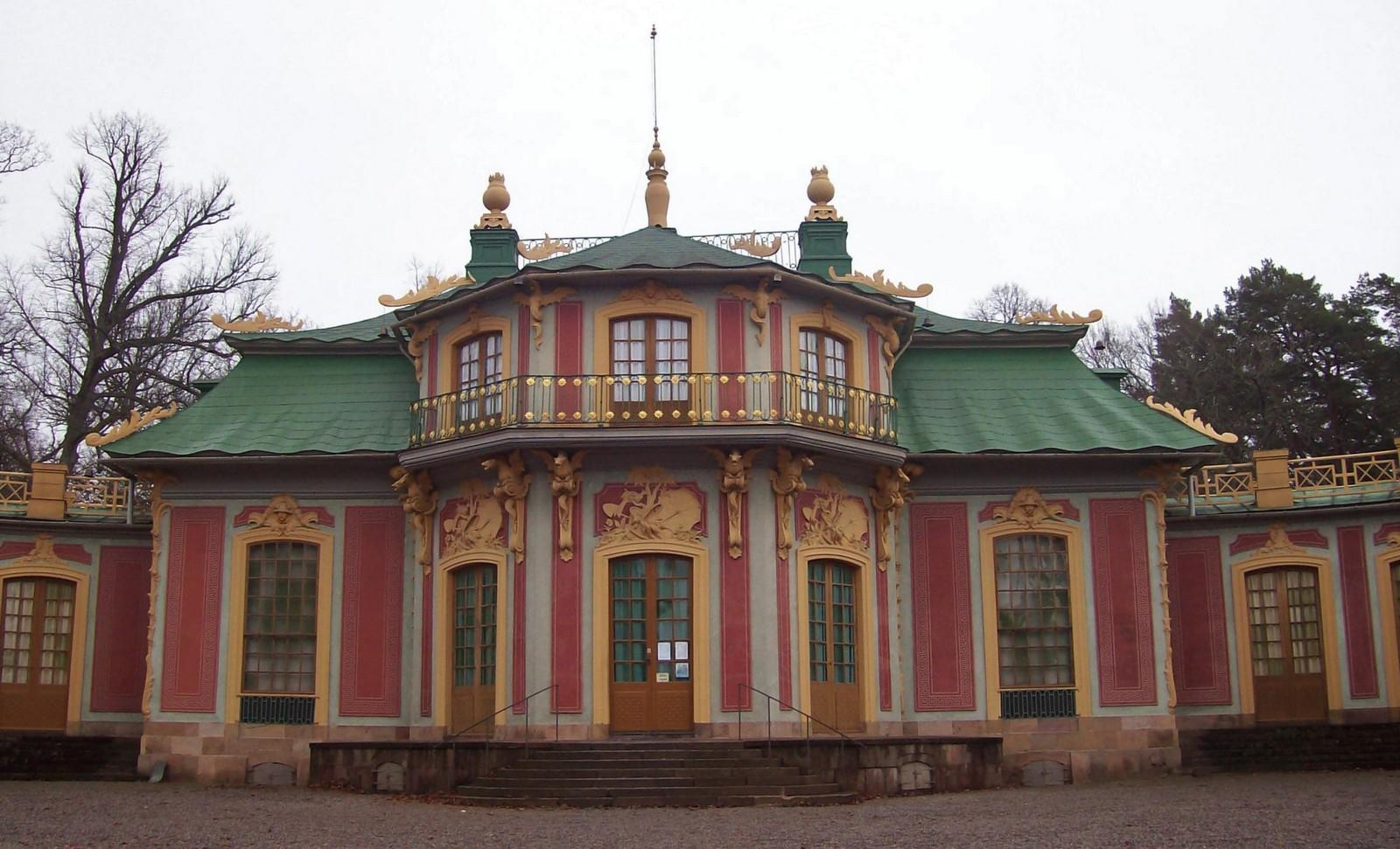 Kina Slott im Park von Schloss Drottningholm