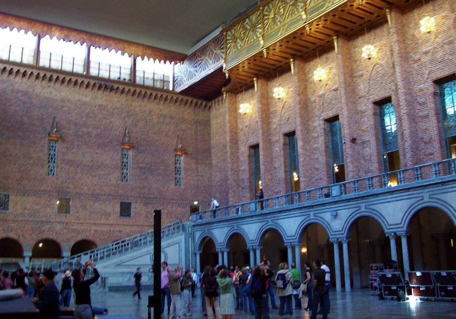 Blaue Halle im Stockholmer Rathaus