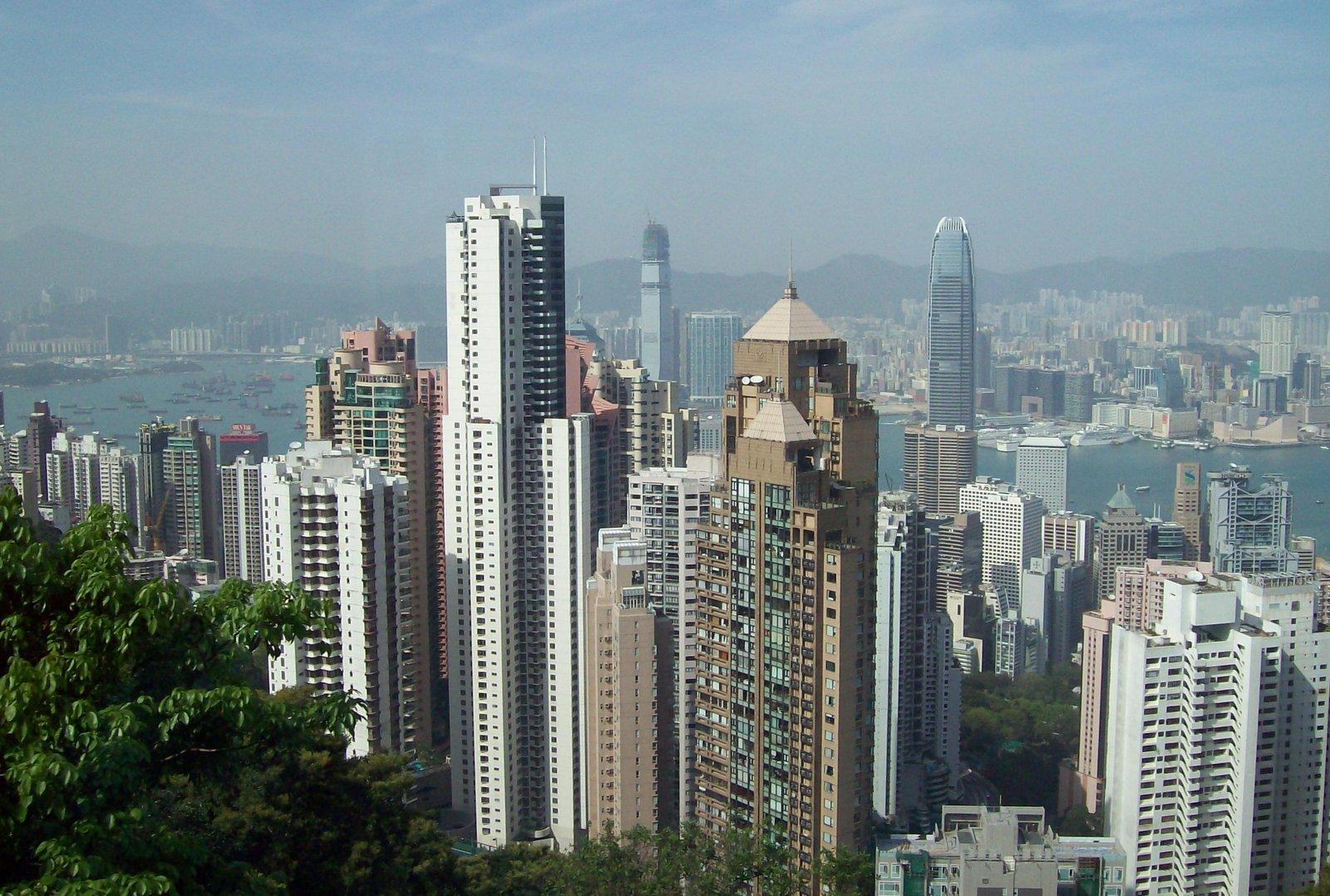 Aussicht vom Peak auf Central - Hongkong Island