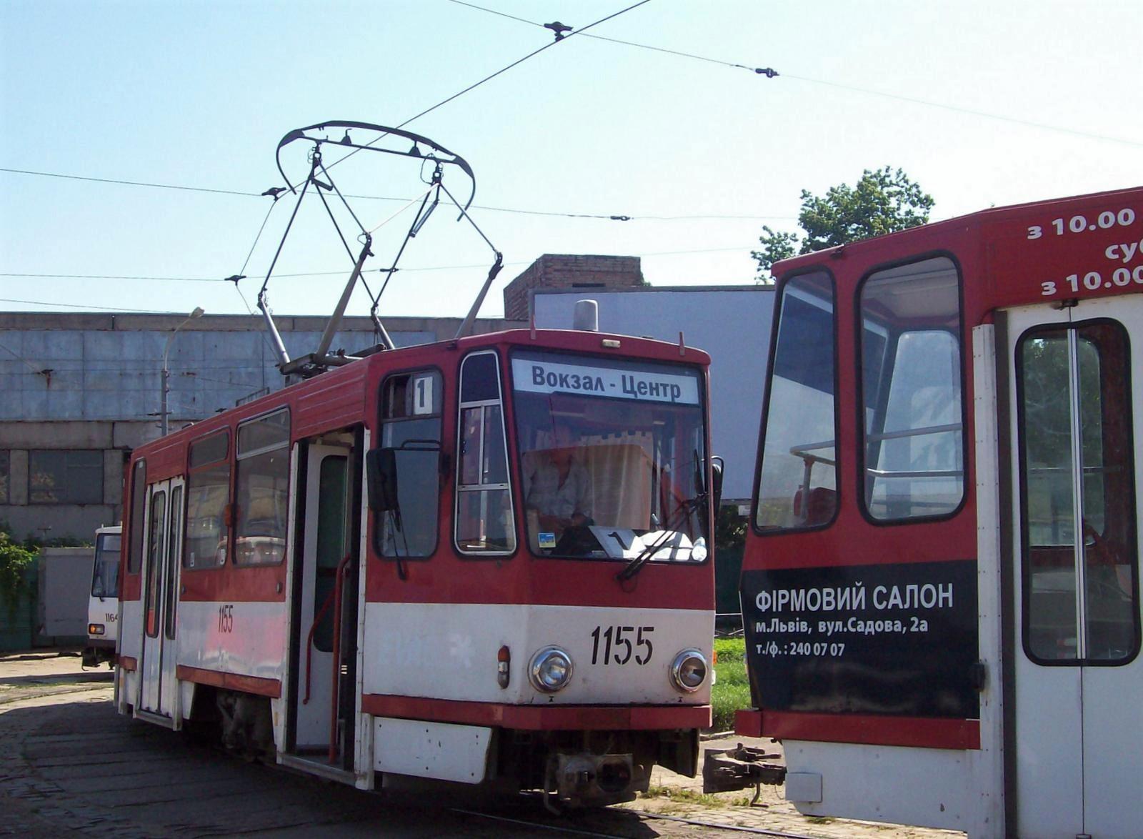 Tram am Bahnhof von Lemberg