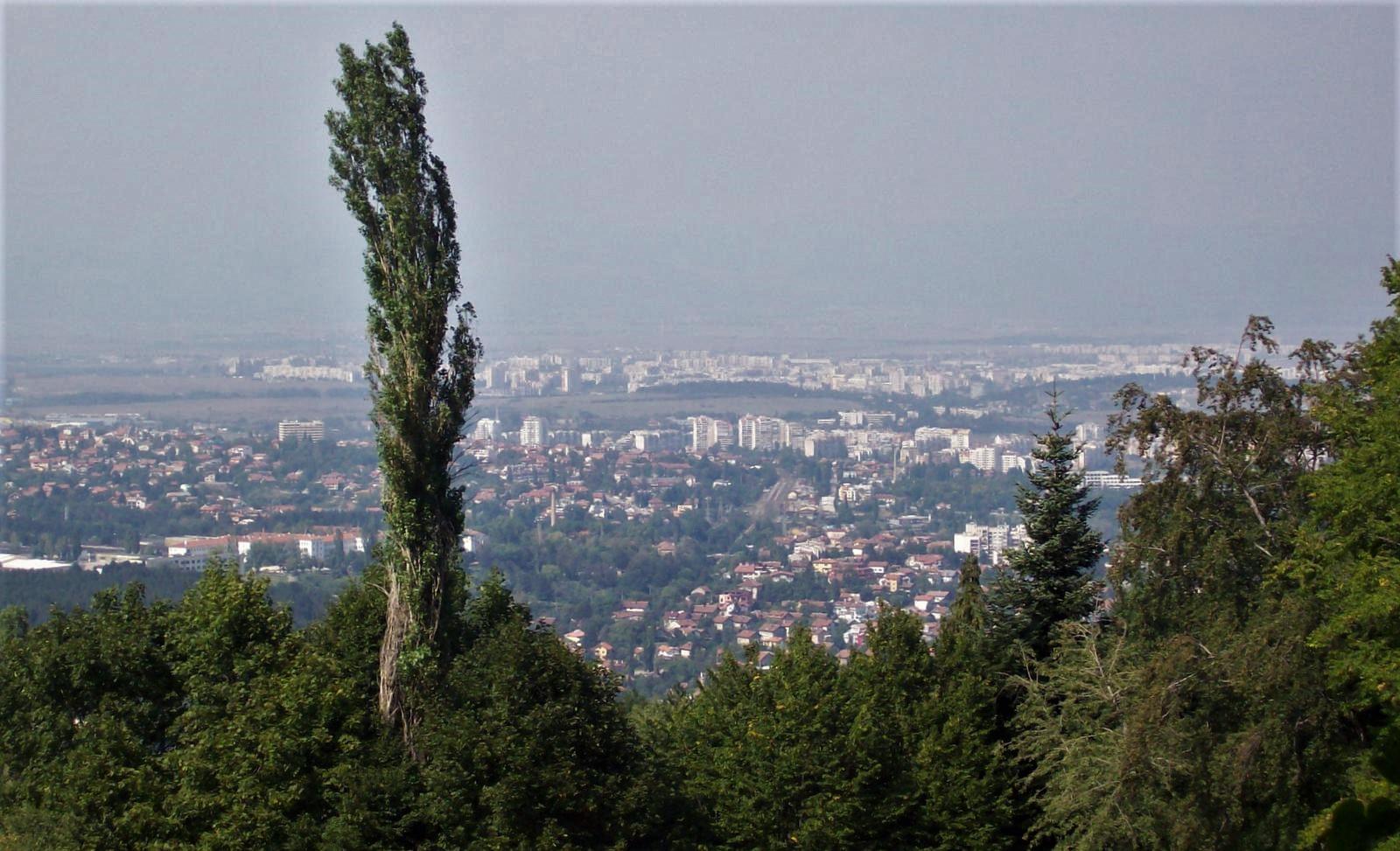 Blick vom Vitoscha-Gebirge auf Sofia