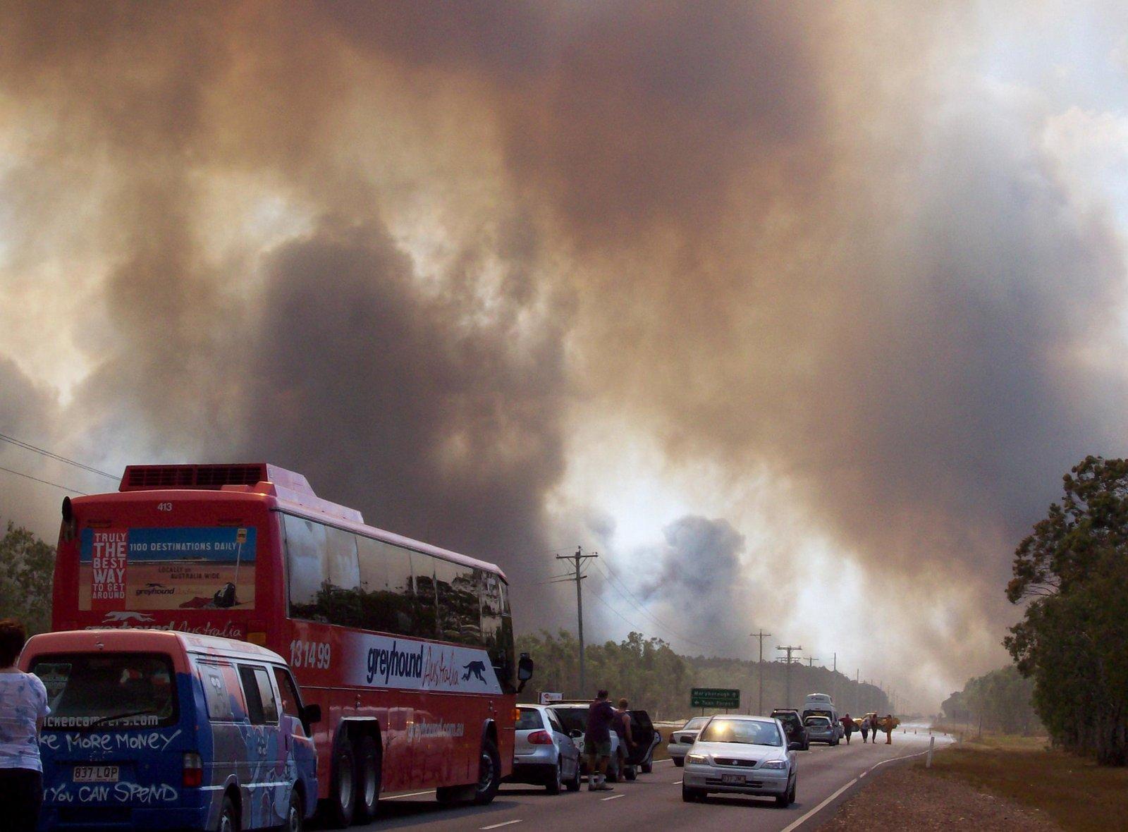 Buschfeuer in Queensland