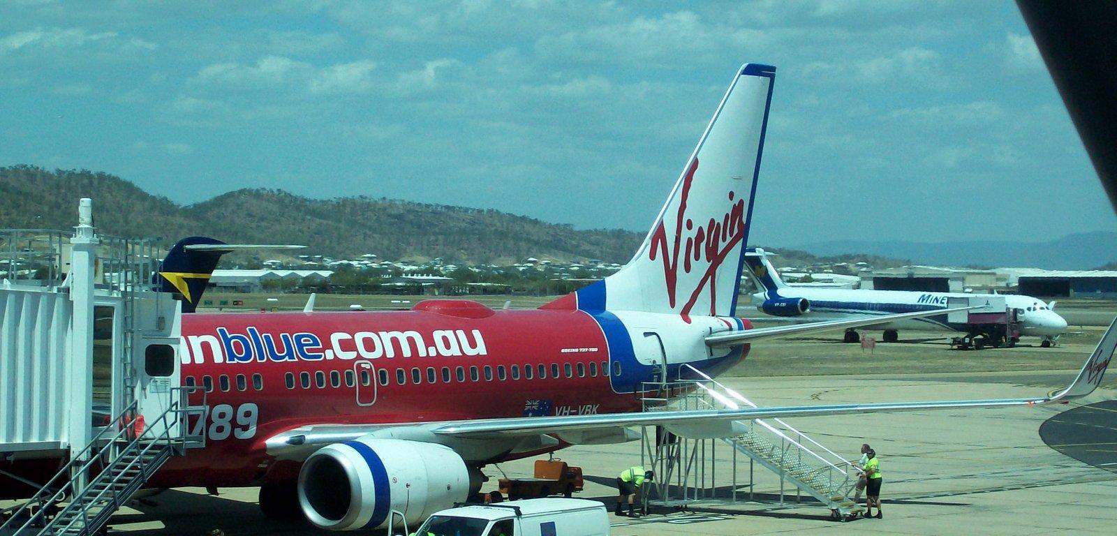 Virgin Blue Flugzeug in Townsville