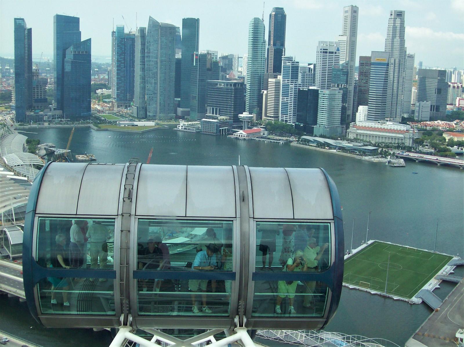 Marina Bay vom Singapur Flyer gesehen
